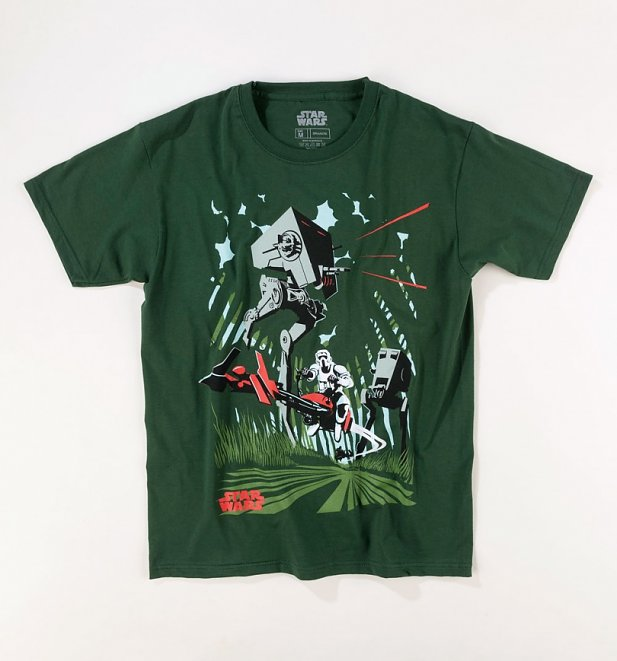 Men's Green Retro AT-ST Archetype Star Wars T-Shirt