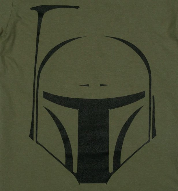 Men's Green Star Wars Boba Fett Helmet T-Shirt