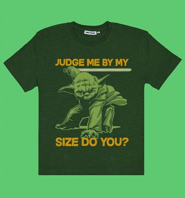 Men's Green Star Wars Yoda Judge Me T-Shirt from Fabric Flavours