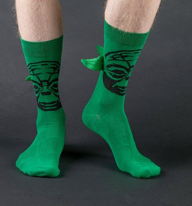 Men's Green Yoda Star Wars Socks With Ears from Difuzed