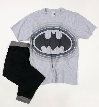 Men's Grey Batman Logo DC Comics Pyjamas