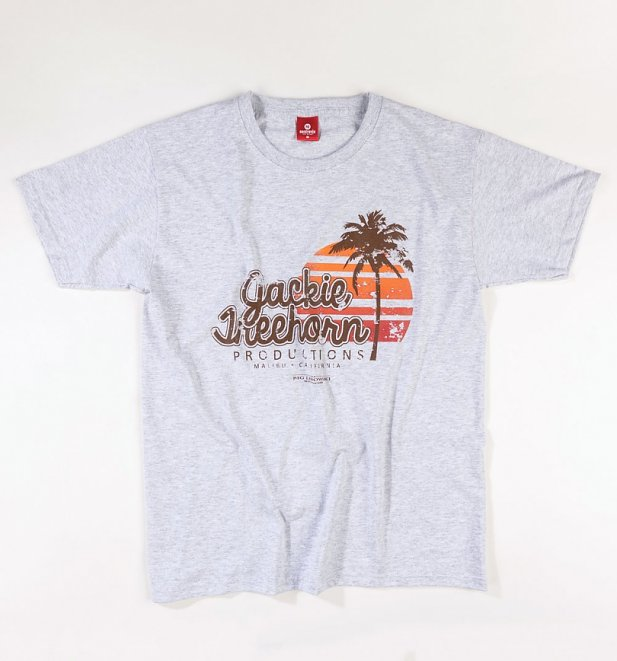 Men's Grey Marl Jackie Treehorn Productions Big Lebowski T-Shirt