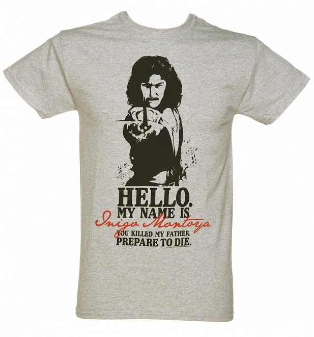 Men's Grey Marl Princess Bride Prepare To Die T-Shirt