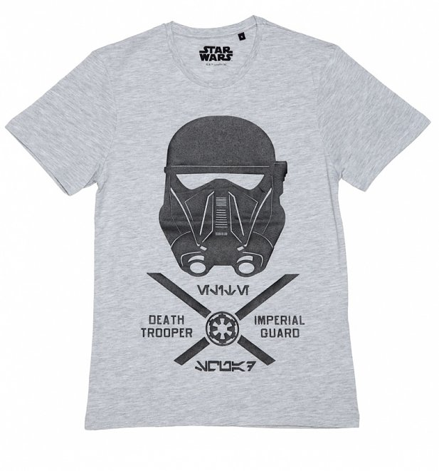 Men's Grey Marl Star Wars Rogue One Imperial Guard T-Shirt