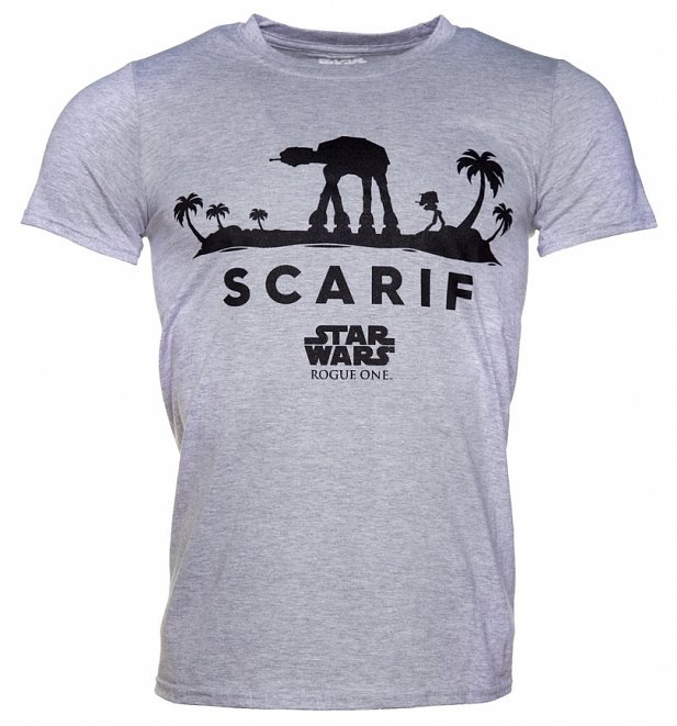 Men's Grey Marl Star Wars Rogue One Scarif T-Shirt
