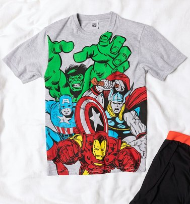 Men's Grey Marvel Comics Pyjamas
