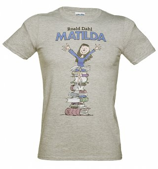 Men's Grey Matilda Roald Dahl T-Shirt