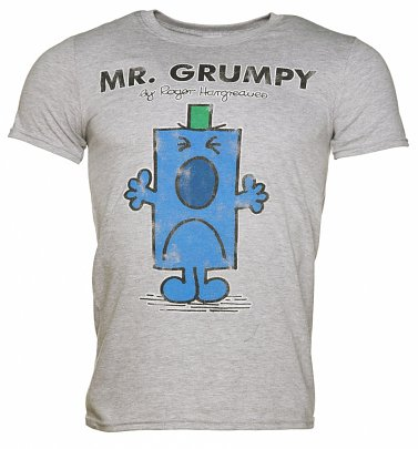 Mr Grumpy (Mister Griesgram) Mr Men Herren T-Shirt, Grau