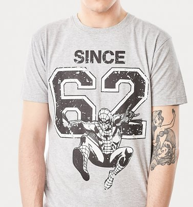 Men's Grey Spiderman Since '62 T-Shirt from For Love & Money