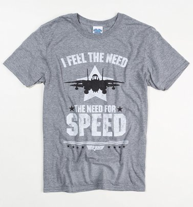 Men's Grey Top Gun Need For Speed T-Shirt