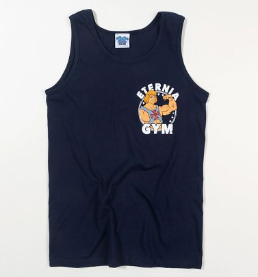 Men's He-Man Eternia Gym Navy Vest