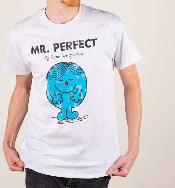 Men's Heavyweight Mr Perfect Mr Men T-Shirt
