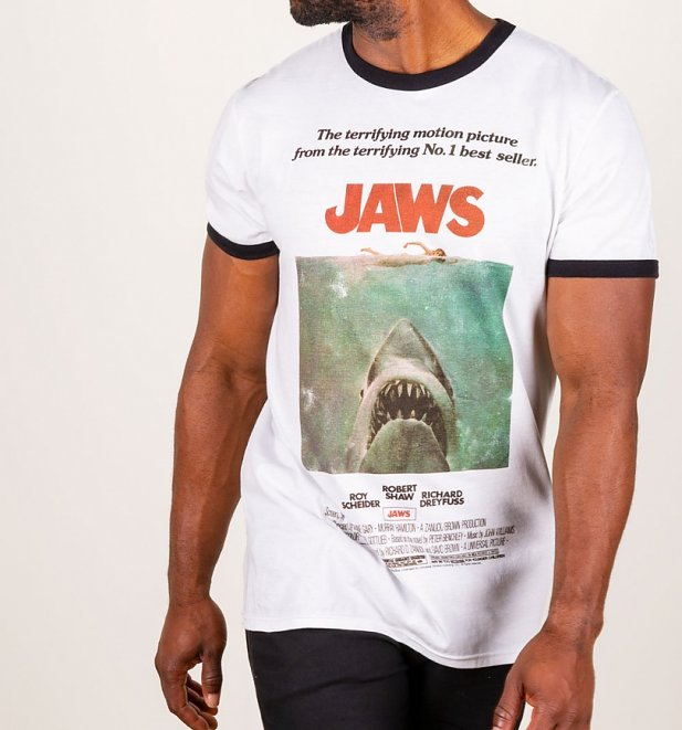Jaws Movie Poster Ringer T-Shirt
