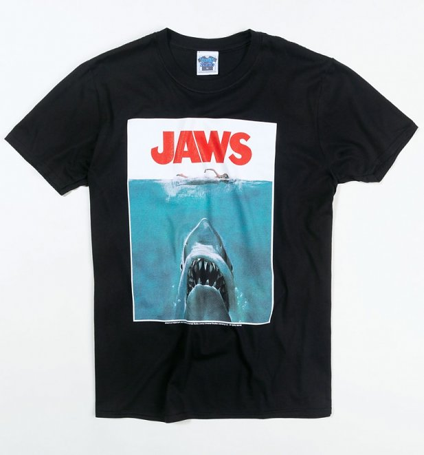 Men's Jaws Shark Black T-Shirt