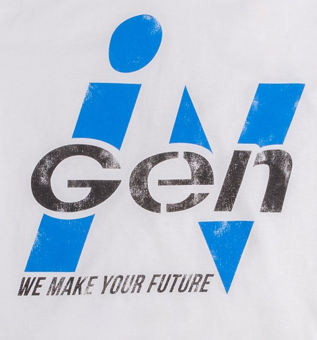 Men's White Jurassic Park Inspired InGen Logo T-Shirt