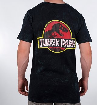 Men's Jurassic Park Jungle Acid Wash Back Print T-Shirt from Hype