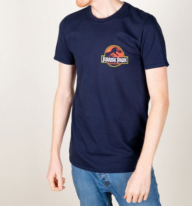 Men's Jurassic Park Ranger Back Print Navy T-Shirt