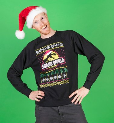 Men's Jurassic World Fair Isle Christmas Jumper