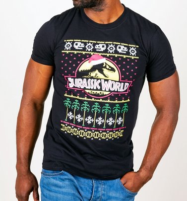 Jurassic World Fair Isle Herren Weihnachts-T-Shirt