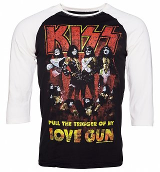 Men's Kiss Love Gun Baseball T-Shirt