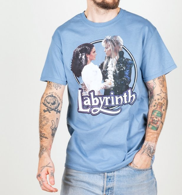 Men's Labyrinth Ballroom Dance Stone Blue T-Shirt