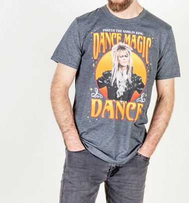 Men's Labyrinth Jareth The Goblin King Dance Magic Dance Charcoal T-Shirt