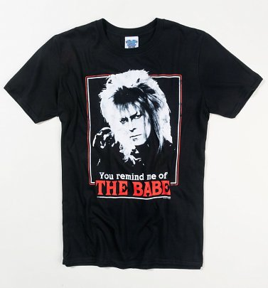 Men's Labyrinth Retro You Remind Me Of The Babe Black T-Shirt