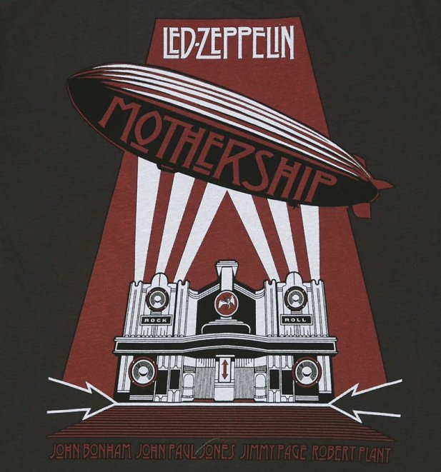 Men's Led Zeppelin Mothership Charcoal T-Shirt from Amplified