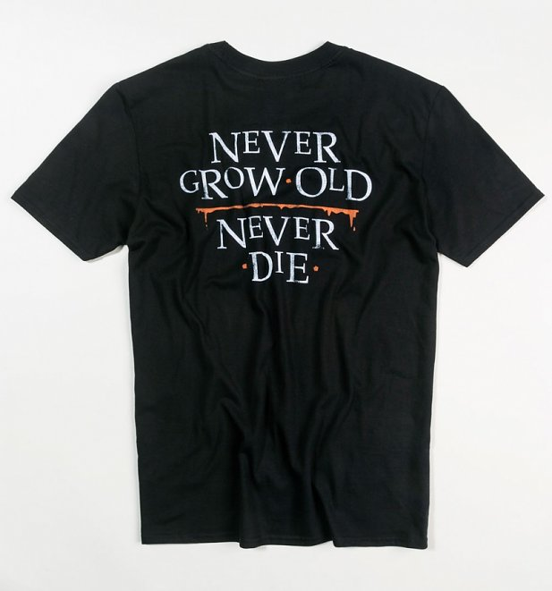 Men's Lost Boys Inspired Never Grow Old Black T-Shirt