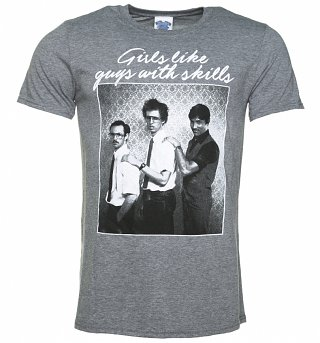 Men's Napoleon Dynamite Girls Like Guys Heather Graphite T-Shirt