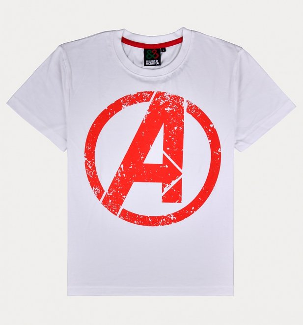 Men's Natural Avengers Logo T-Shirt from For Love & Money