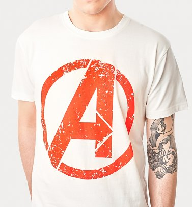 Men's Natural Avengers Logo T-Shirt from For Love and Money