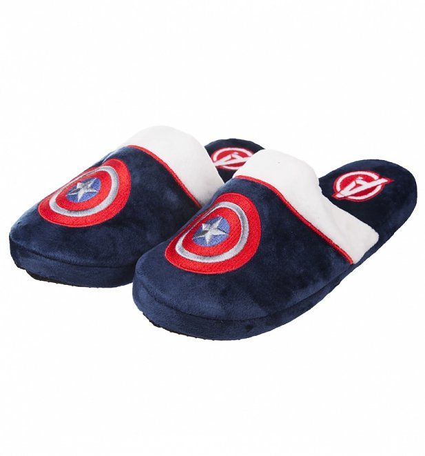 Marine Marvel Comics Captain America Slip-On-Hausschuhe