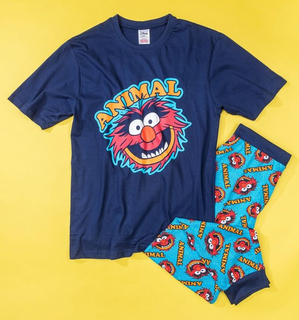 Men's Navy The Muppets Animal Pyjamas