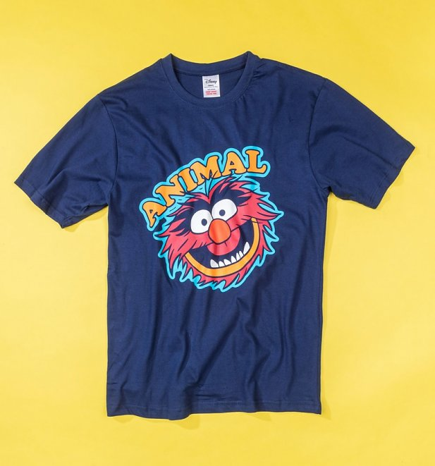Men's Navy Muppets Animal Pyjamas