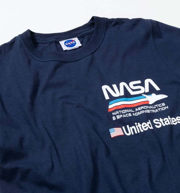 Men's Navy NASA Aeronautics T-Shirt
