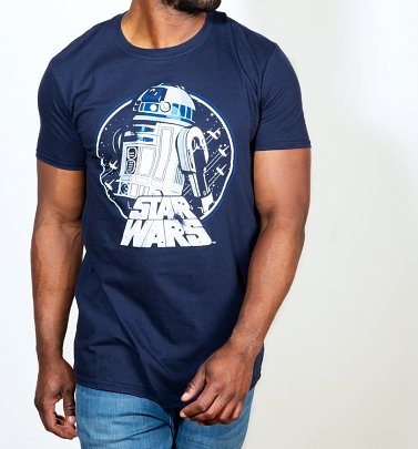 Men's Navy Star Wars R2-D2 T-Shirt