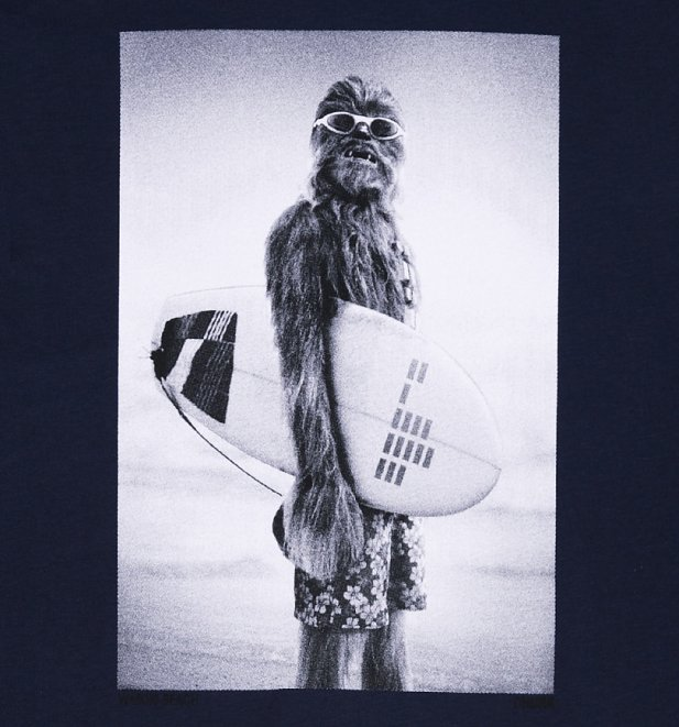 Men's Navy Star Wars Wookiee Surfer T-Shirt from Chunk