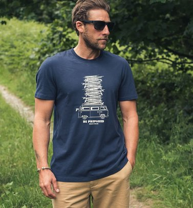 Men's Navy VW Camper Van T-Shirt