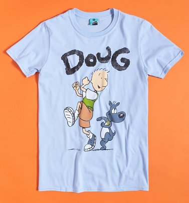 Men's Nickelodeon Doug Light Blue T-Shirt