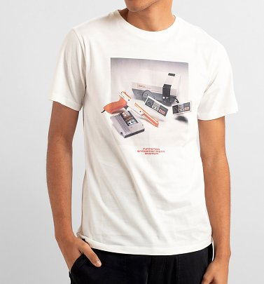 Men's Off White Nintendo NES Console Organic Cotton T-Shirt from Dedicated
