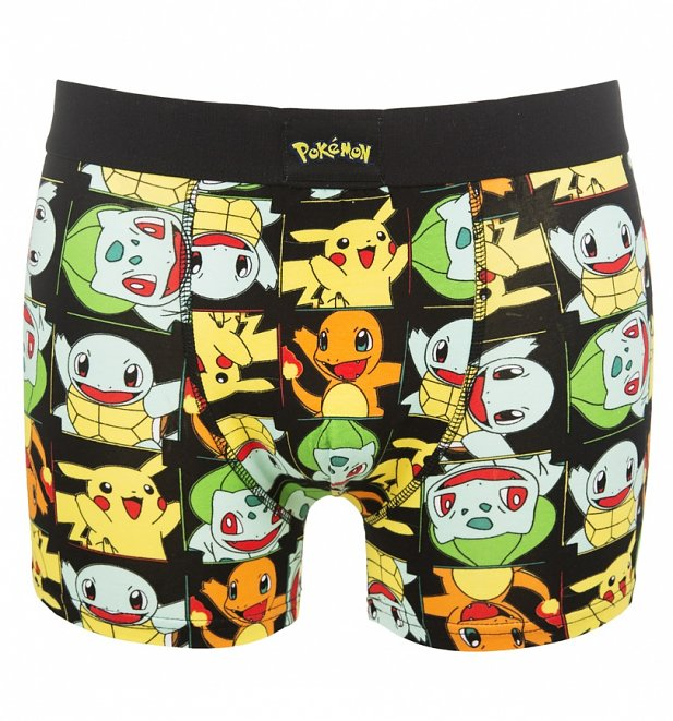 Men's Pokemon Pikachu And Friends Boxer Shorts