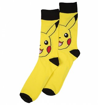 Men's Pokemon Pikachu Crew Socks