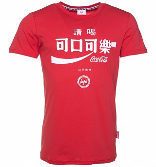Men's Red Coca-Cola Taiwan Logo T-Shirt from Hype