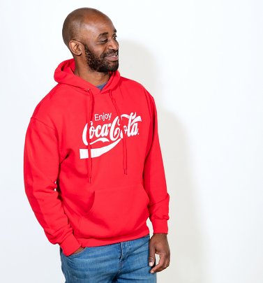 Men's Red Enjoy Coca-Cola Hoodie
