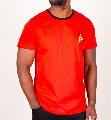 Scotty Star Trek Herren Ringer T-Shirt, Rot