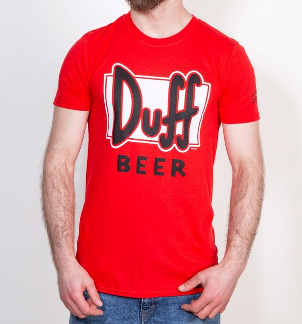 Red Simpsons Duff Beer T-Shirt
