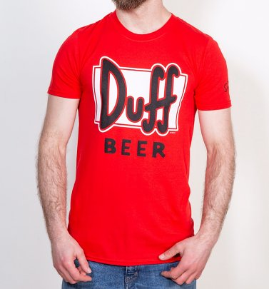 Men's Red Simpsons Duff Beer T-Shirt