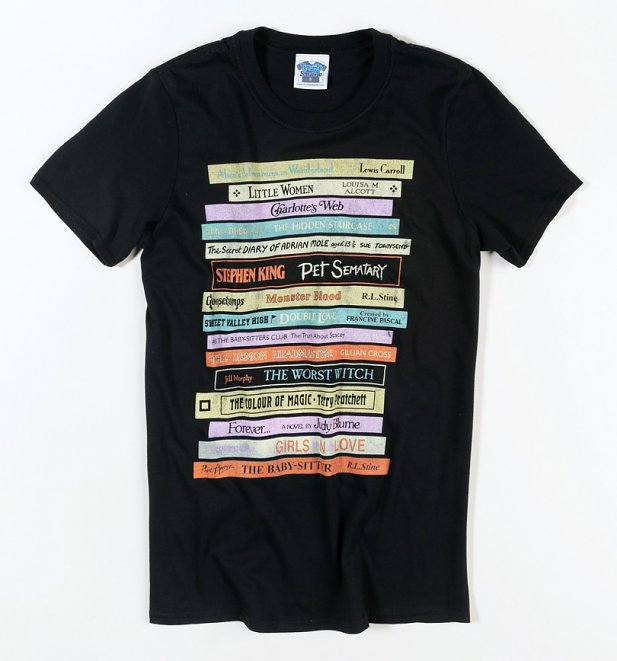 Men's Retro Book Collection Black T-Shirt