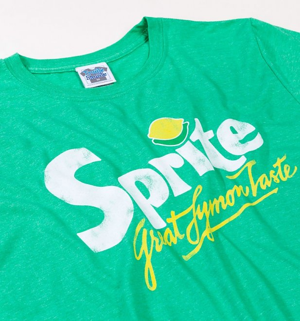 Men's Retro Sprite Logo Heather Irish Green T-Shirt